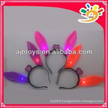 Oreilles de lapin clignotantes, épingles à oreilles