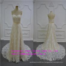 Vestido de novia sin tirantes sirena sexy