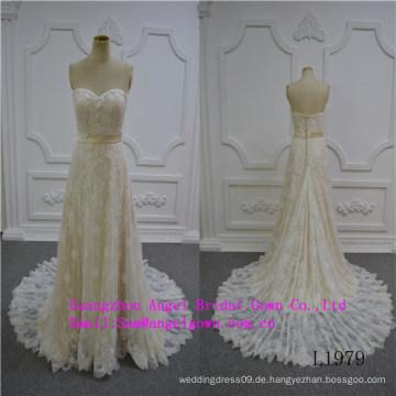 Meerjungfrau-reizvolle trägerlose Hochzeits-Kleid