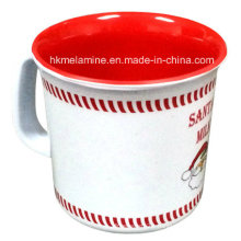 Two Tone Melamine Coffee Mug with Santa Logo (CP074)