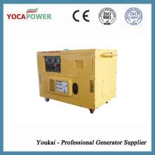 Générateur portable électrique monophasé de 8kw à moteur monophasé avec génération de puissance génératrice de diesel à 4 temps