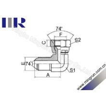 Métrique Mâle / métrique femelle 74 degrés évasé tube adaptateur (2Q9)