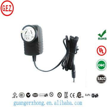 ROHS 9w 1.5a AC adaptateur CC avec sa prise