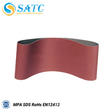 Aluminum oxide abrasive sanding belt for wood and metal