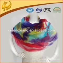 De alta calidad de largo y largo impreso Diseño personalizado Hermoso color cachemir Pashmina chales