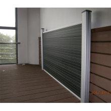 Cerca de alumínio do WPC Gardeb, design de interiores: 180 * 25mm