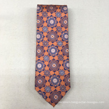Wholesale Orange Floral Mens Bespoke Suit 100% Silk Fabric for Tie