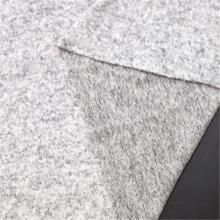 Tela de cachemira de imitación de aguja gruesa gris popular