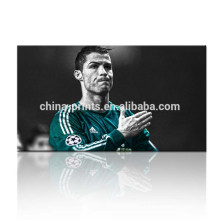 Cristiano Ronaldo Poster/Football Star Canvas Art/Soccer Player Stretched Canvas Art