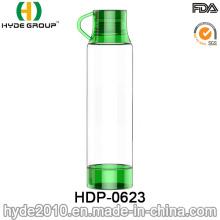 Botella de agua plástica de Tritan libre portátil verde de BPA 500ml (HDP-0623)
