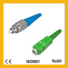De alta calidad y competitiva Simplex Single Mode 0.9mm Sc Conector óptico de fibra