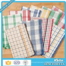 Hot selling 100% cotton yarn dyed jacquard checks dishcloth