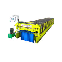Double IBR Steel Roof Sheet Roll Forming Machine