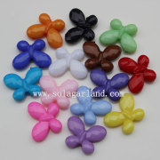 The Faceted Butterfly Jewelry Charm Beads with Opaque Color