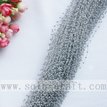 Best Quality for White Pearl Bead Garland,Pearl Wire Garland,Pearl Garland Wreath For Sale 3MM Silver Artificial Faux Pearl String Beaded Garland supply to Jamaica Supplier