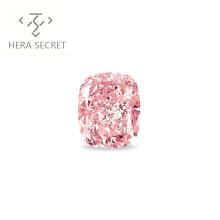 ForeverFlame fancy pink 2ct cushion cut color diamond CVD CZ Moissanite