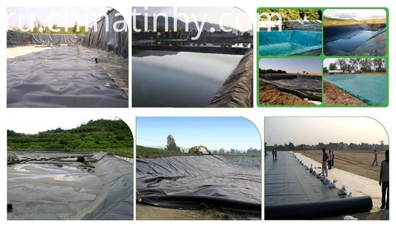 Black color 1mm pond liner