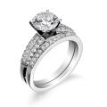Обручальное кольцо с венчанием в ювелирных изделиях из стерлингового серебра 925