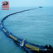 Rubber oil containment boom seaweed barrier for the oil-spilling emergency