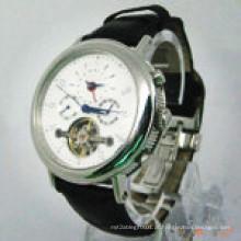 Relógio automático de aço inoxidável do aço de Staninless do pulso dos homens do relógio da venda 2015hot