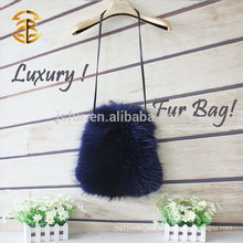 2014 Wholesale Luxury Winter Warm Fashion Animal Genuine Raccoon Ladies Fur Bag