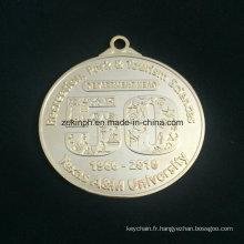 Znic personnalisé alliage médaille d'or belle médaille moderne