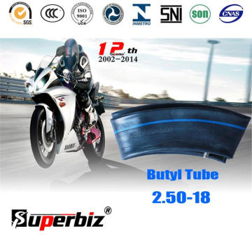 ISO стандарт мотоцикл бутил Внутренняя трубка (2,50-18)