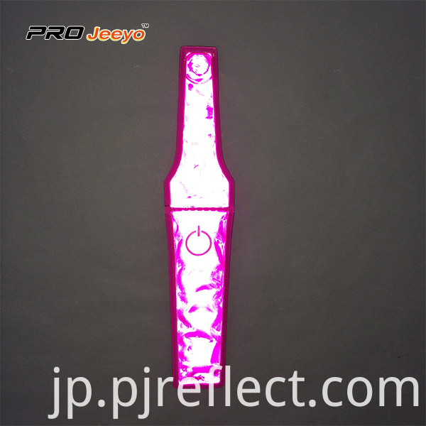 Reflective Visibility Warning Pvc Pink Magnetic Clipcj Ccj001