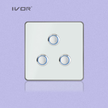 3 Gangs Lighting Switch Touch Panel Aluminum Alloy Material (RD-ST1000L3)