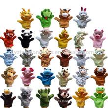 Marioneta de peluche educativa baratos de la mano, calcetines animales del calcetín