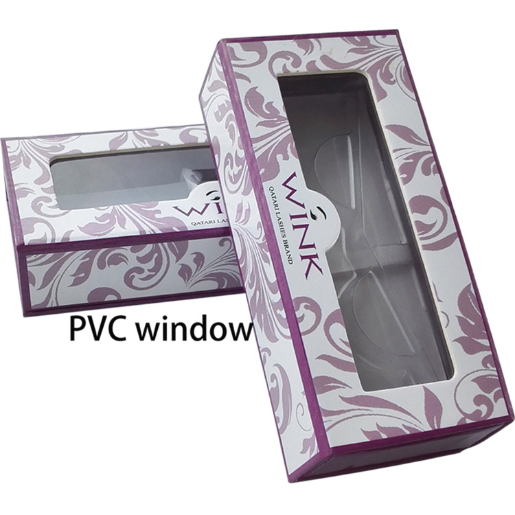 eyelash box with pvc window