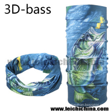 2016 New Design 3 D Bass Fishing Scarf