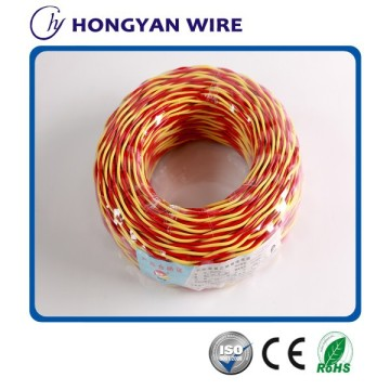 300/300V copper core PVC insulated twisted flexible electric wire