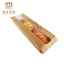 Großhandelskundengebundener Entwurf druckte Bäckerei-französisches Stangenbrot-Brot, das Kraftpapier-Tasche mit Fenster verpackt