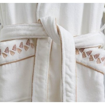 Canasin 5 Sterne Hotel Piping Bademantel Luxus 100 % Baumwolle