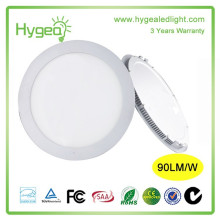 High efficiency recessed ceiling urltra slim round slim cob led panel light