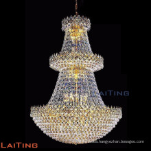 Large pendant light fixtures vintage crystal chandelier for lobby 62051