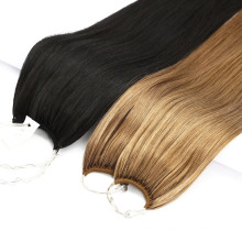 Customized Color Brazilian Top Quality Human Virgin Hair No Tip Hair Extensions Remy Hair