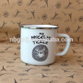 enamel white mugs & best price hot selling & new product mugs and cups