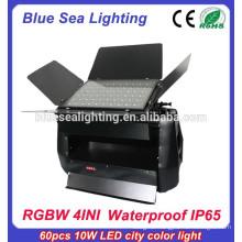 High power IP65 60pcs 10w 4 in 1 dmx rgb outdoor led flood light