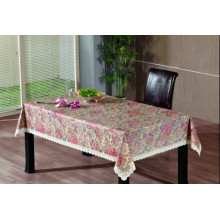 PVC Embossing Tablecloth with Flannel Backing (TJG0014)