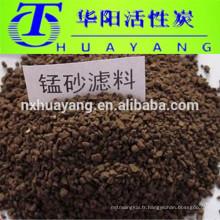 Birm Iron filtre le sable de manganèse pour enlever le fer de l'eau