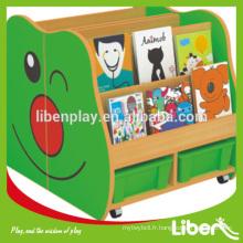 Cabinet d'enfants en bois de style nouveau, Kindergarten Classroom Train Design Cabinet de rangement pour jouets pour enfants LE.SJ.053