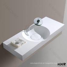 Atacado design italiano superfície sólida parede pendurado lavatórios do banheiro