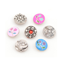 Botões de pregos de metal feito sob encomenda para botão de pressão de metal de 18mm