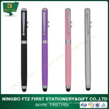 Metal multi-función 4 en 1 lápiz puntero láser