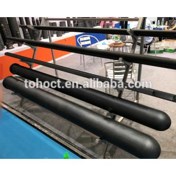 Один конец закрыт керамическая пробка черного карбида кремния RBSIC керамические трубы