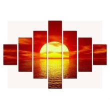 7 pcs Pôr do sol sobre mares Fotos Pinturas em tela impressa ART