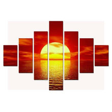 7 шт. Закат над морями Картины на холсте АРТ