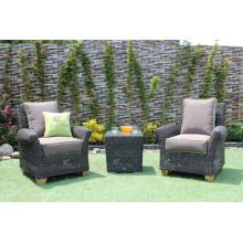 Zeitloses Poly-Rattan-Sofa-Set Für Outdoor-Garten